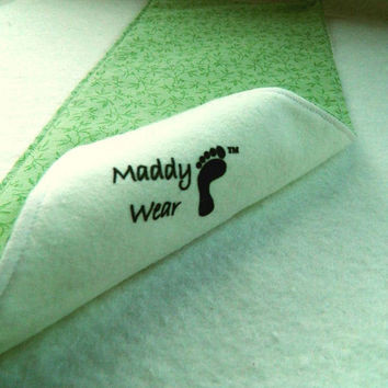 Spring Color Gift Set of Three Burp Cloths by maddywear