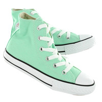 Converse Girls' ALL STAR peppermint canvas hi top sneakers 342367