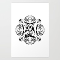 NEW NEW BAPHOMET Art Print by Kathead Tarot