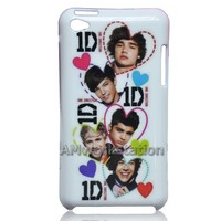 Cute I Love One Direction 1d Pattern Style Hard Case Cover for Apple iPod touch 4 4th Generation