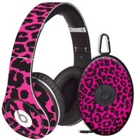Pink Leopard Decal Skin for Beats Studio Headphones & Carrying Case by Dr. Dre