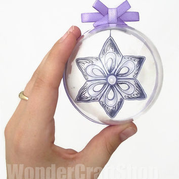 clear ornaments, christmas baubles, violet decoration, paper christmas, snowflake, xmas tree decorations, handmade christmas ornaments