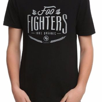 FOO FIGHTERS 100% ORGANIC LOGO T-Shirt NEW Dave Grohl 100% Authentic