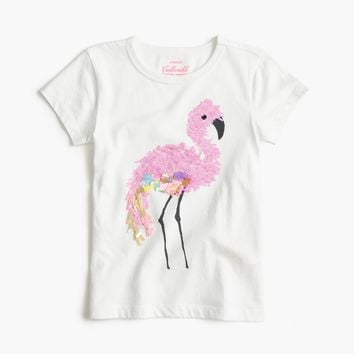 Girls' sequin flamingo T-shirt : Girl short-sleeve t-shirts | J.Crew
