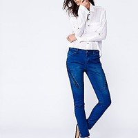 Free People Womens Spencer Zip Skinny