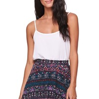 LA Hearts Ethnic Span Skater Skirt - Womens Skirt - Multi
