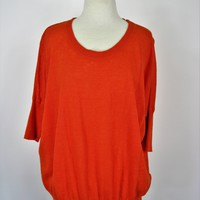 J Crew Linen Knit Drop Shoulder Boxy Sweater Top XXS