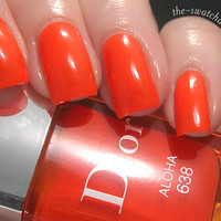 Dior Electric Tropics Summer 2011 558 Paradise 638 Aloha nail polish swatch | The Swatchaholic . a blog about nail polish and makeup
