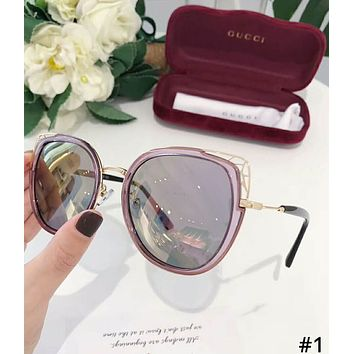 GUCCI 2019 new female personality color film driving polarized sunglasses #1