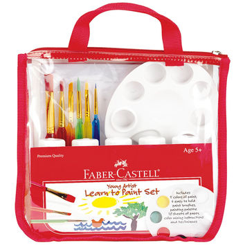 Faber-Castell - Young Artist Learn to Paint Set - Premium Art Supplies For Kids A 1