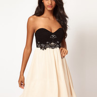 Little Mistress Embellished Bustier Prom Dress