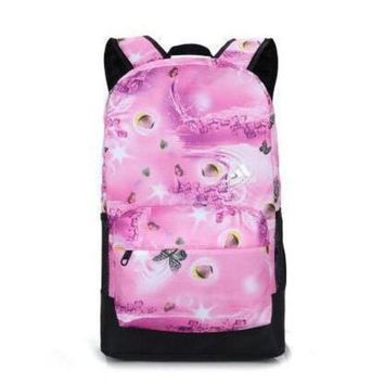 CREYUP0 Adidas Fashion Butterfly Print Sport Shoulder Bag Travel Bag School Backpack