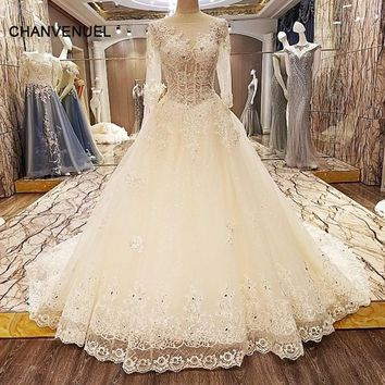 LS53621 special wedding dresses lace ball gown corset back wedding gowns 2018 robe de mariage real photos
