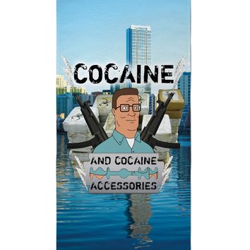 Cocaine and Cocaine Accessories Beach Towel