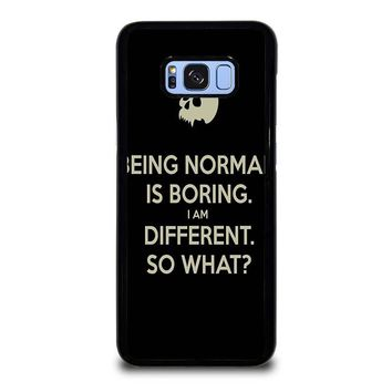NORMAL IS BORING QUOTES Samsung Galaxy S8 Plus Case Cover