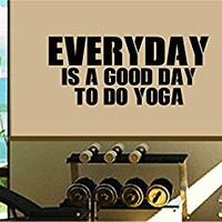 Dabbledown Everyday is a Good Day to do Yoga Window Lettering Decal Sticker Decals Stickers