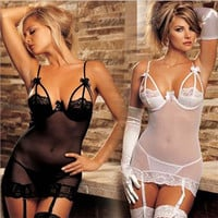Cute Hot Deal On Sale Sexy Plus Size Socks Set Lace Exotic Lingerie [6595817987]