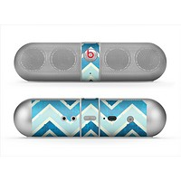 The Vibrant Blue Vintage Chevron V3 Skin for the Beats by Dre Pill Bluetooth Speaker