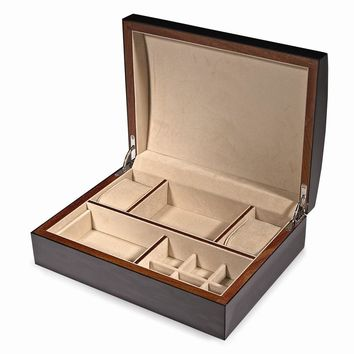 Piano Finish Wood Jewelry/Watch Box Available in Black/Green/Brown