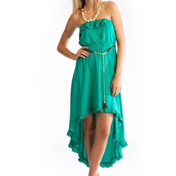 belted-ruffle-high-low-dress JADE - GoJane.com