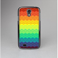 The Rainbow Thin Lined Chevron Pattern Skin-Sert Case for the Samsung Galaxy S4