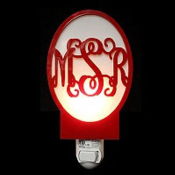 Monogrammed Interlocking Nightlight