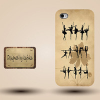 iphone case, i phone 4 4s 5 case,cool cute iphone4 iphone4s 5 case,stylish plastic rubber cases cover,yellow dance girl ballet  p1055