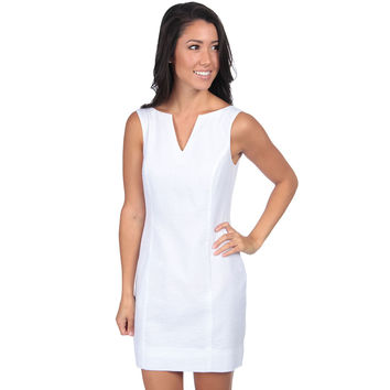 The Avery Seersucker Dress in White by Lauren James - FINAL SALE