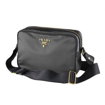 Prada Women's Nero Black Tessuto Nylon Crossbody 1BH089