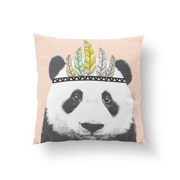 Panda Pillow, Kids Pillow, Home Decor, Cushion Cover, Throw Pillow, Bedroom Decor, Bed Pillow, Decorative Pillow,Nursery Decor, Animal Decor