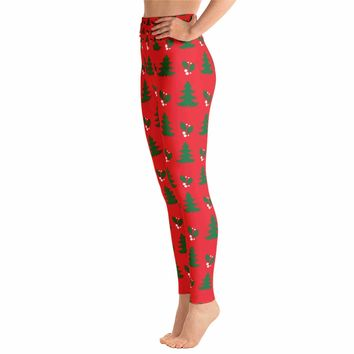 Christmas Holly Winter Leggings
