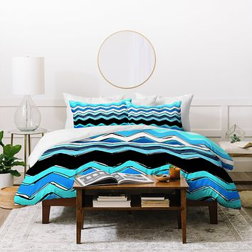 Sharon Turner Ocean Chevron Duvet Cover