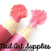 nailartsupplies | Pretty in Pink - Dark Pink Vibrant Double Color Eye Shadow Duo Pencil | Online Store Powered by Storenvy