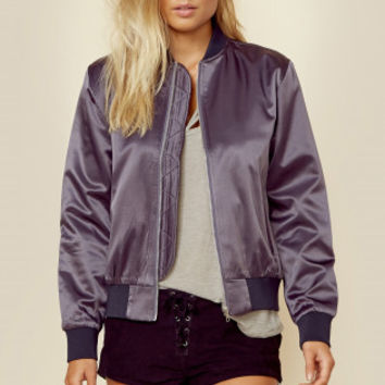SILK BOMBER JACKET