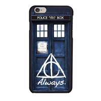 tardis police box deathly hallows harry potter iphone 6 6s 4 4s 5 5s 6 plus cases
