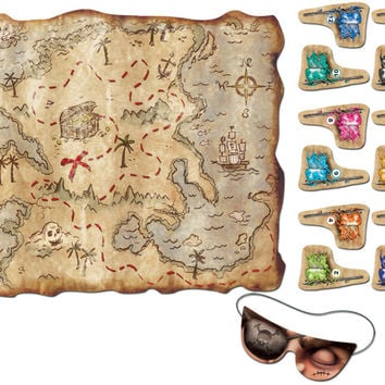 "pirate treasure map party game - 17.5"" x 19.5"" Case of 24"