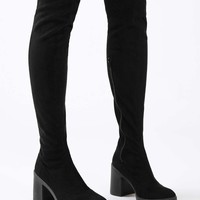 CAPRI Injected High Knee Sock Boots | Topshop