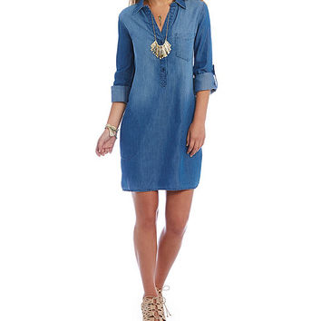 C&V Chelsea & Violet Nina Chambray Dress | Dillards