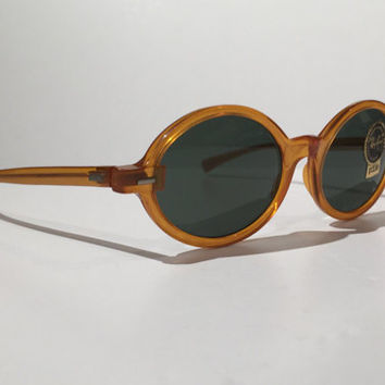 Vintage Ray Ban Sunglasses,Vintage 60s 70s Ray Ban Tenley Bausch and Lomb Oval Sunglasses, NOS, New Old Stock, True Vintage, Awesome!