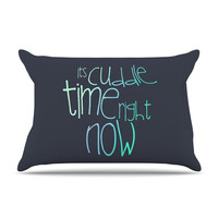 "Monika Strigel ""Cuddle Time Mint"" Pillow Case"