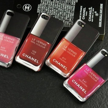 Chanel chanel nail polish iphone case iphone 5--Yellow, wine red, blue, mei red, green, red, purple, pink