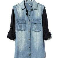 Denim Tops with Sleeve Details