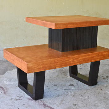 Paul Frankl Mahogany Step End Table