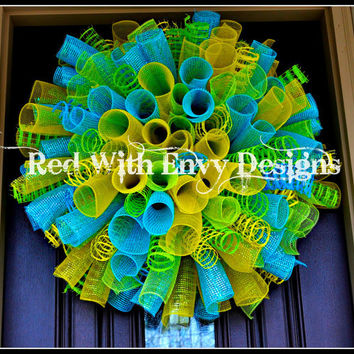 Easter Wreath, Spring Wreath, Easter, Spring, Spiral Wreath, Curly Wreath