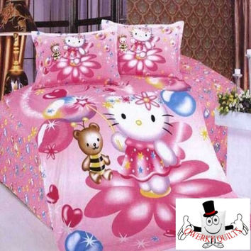 Clever Rabbit Pink Bedding Set and Quilt Cover