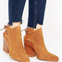 H by Hudson Suede Leather Tieback Heel Boots at asos.com