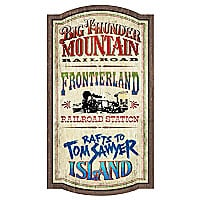 Frontierland Attractions Wall Sign - Walt Disney World