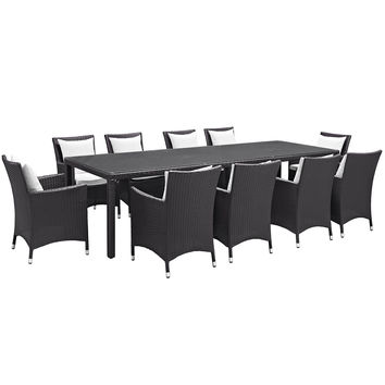 Convene 11 Piece Outdoor Patio Dining Set