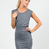 Deep Side Cut Out Jersey Dress