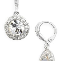 Women's Givenchy Crystal Drop Earrings - Silver/ Crystal